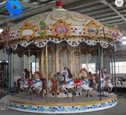 China Fashion Classic Fairground Rides , Luxury Amusement Park Carousel For Children factory