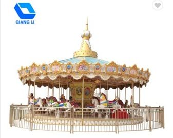 China Amusement Theme Park Carousel 36 Person Ride Merry Go Round SGS Certified factory