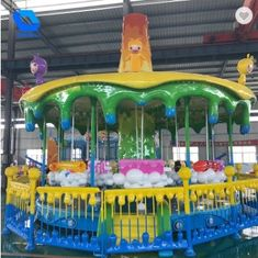 China Mini Portable Theme Park Carousel / Amusement Kids Carousel Ride Color Customized factory