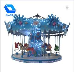 China Luxury Theme Park Carousel / Portable Merry Go Round Ride For Kiddie Ride factory