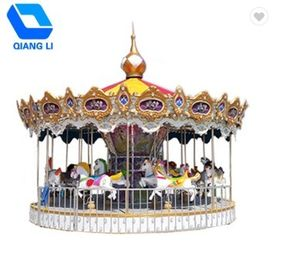 China Outdoor Mini Portable Small Merry Go Round Carousel For Kids Carnival Games factory