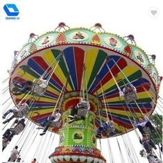 Amusement Equipment Kids Swing Ride Color Customized Amazing Thrill Rides