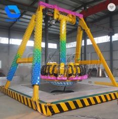 Funfair Ground Pendulum Swing Ride , Custom 6 Seats Mini Frisbee Ride