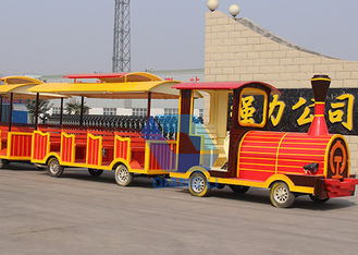 China Beautiful Decoration Carnival Train Ride For Outdoor Amusement Park factory