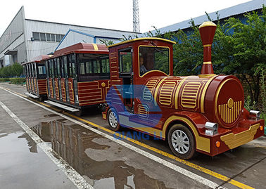 China Amusement Kiddie Train Ride Sightseeing Battery Trackless Train For Kids factory