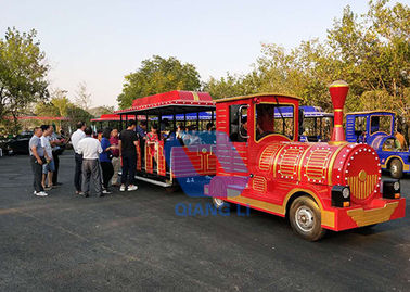 Fashion Carnival Train Ride Color Customized Electric Tourist Train With LED Light