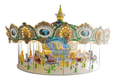 Popular Theme Park Rides Up Driven Musical Merry Go Round Carousel For Children / Adults