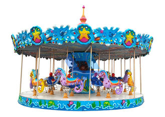 China Decoration Custom Theme Park Carousel 24 Passenger Kids Riding Carousel CE Approved factory