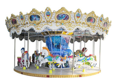 China Double Decker Merry Go Round 24 Seater Carousel Amusement Park Rides factory