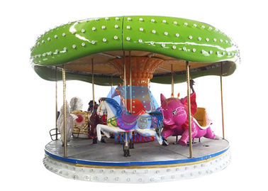 12 Seats Kids Carousel Ride 4.8m Height Color Customized For Amusement Park