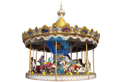 Commercial Theme Park Rides 12 Seats Indoor Children'S Carousel Ride