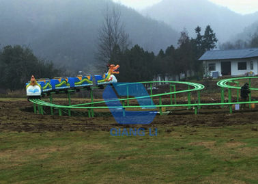 China Special Design Track Rides , Amusement Worm Roller Coaster For Adult / Kids factory