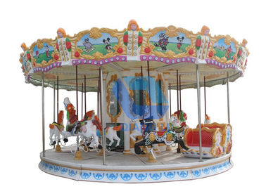 China 24 Person Mini Carousel Horse , Ride On The Merry Go Round Playground factory