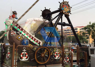 China 12 Seat Mini Pirate Ship Carnival Ride Amusement Park Equipment 3.8m Height factory