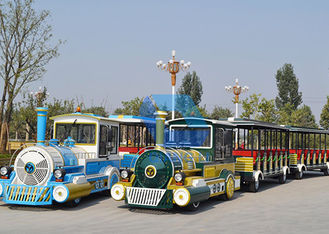 China Customized Carnival trackless Train Ride 42 Adults Capacity Electric Sightseeing Train Rides factory