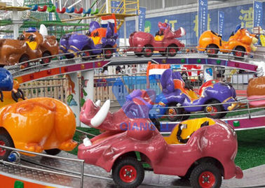 China Indoor / Outdoor Amusement Park Rides For Kids , Mini Shuttle Ride With Light Systems factory