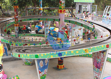 China Attraction Amusement Park Roller Coaster , Electric Mini Shuttle Little Kid Roller Coaster factory