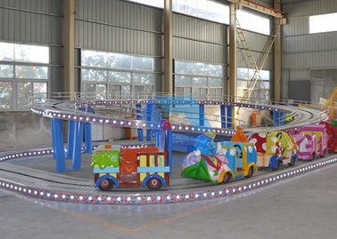 China Mini Indoor Roller Coaster , Mini Shuttle Rides With Gorgeous Lights factory