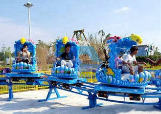 China Outdoor Theme Park Roller Coaster , Kids Mini Roller Coaster Ocean Theme Spinning Sliding factory