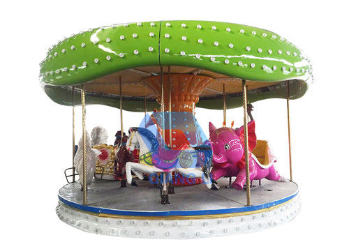 12 Seats Kids Carousel Ride 4.8m Height Color Customized For Amusement Park supplier