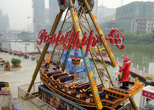 30P Pirate Boat Ride , Pirate Ship Amusement Park Ride For Outdoor Playing supplier