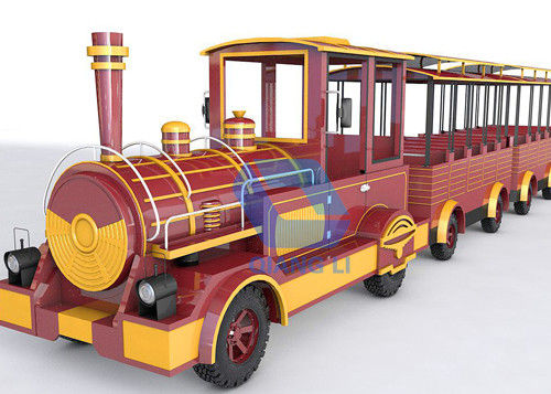 Interesting Carnival Train Ride Antique Models Trackless Kiddie Train For Amusement Parks